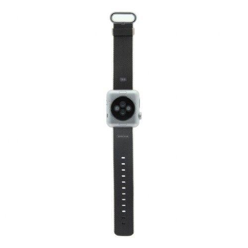 Apple Watch Series 2 - boîtier en aluminium argent 38mm - bracelet en nylon tissé gris perle
