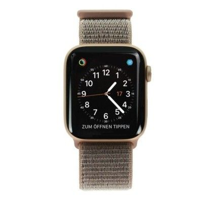 Apple Watch Series 4 - boîtier en aluminium or 44 mm - boucle sport rose des sables (GPS+Cellular)