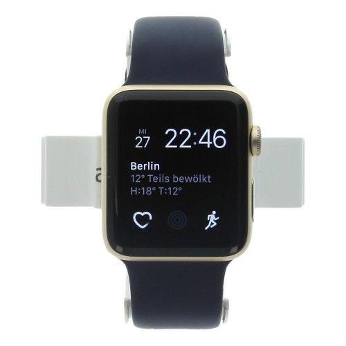 Apple Watch Series 2 - boîtier en aluminium or 42mm - bracelet sport bleu de minuit