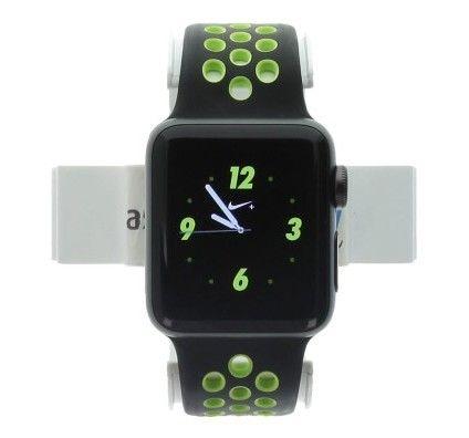 Apple Watch Series 2 Nike+ - boîtier en aluminium gris foncé 38mm - bracelet sport noir/volt