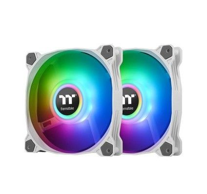 Thermaltake Pure Duo A14 ARGB Radiator Fan x 2 - Blanc