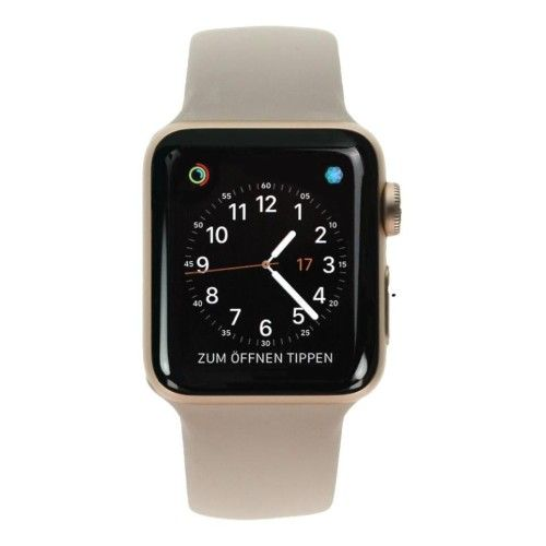 Apple Watch Series 3 - boîtier en aluminium or 38mm - bracelet sport rose des sables (GPS+Cellular)