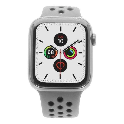 Apple Watch Series 5 Nike+ - boîtier en aluminium gris 44mm - bracelet sport noir (GPS)