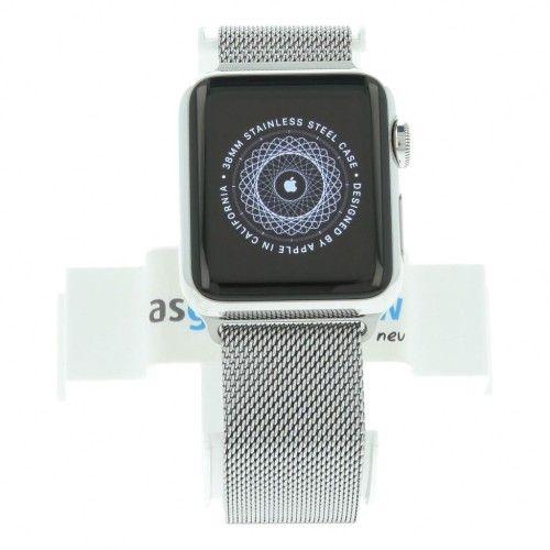 Apple Watch Series 1 - boîtier en acier inoxydable argent 38mm - bracelet milanais argent