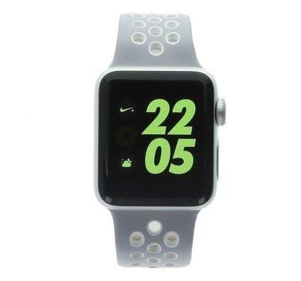 Apple Watch Series 2 Nike+ - boîtier en aluminium argent 38mm - bracelet sport en platine/blanc