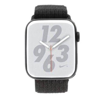 Apple Watch Series 5 Nike+ - boîtier en aluminium gris 44mm - boucle sport noire (GPS+Cellular)