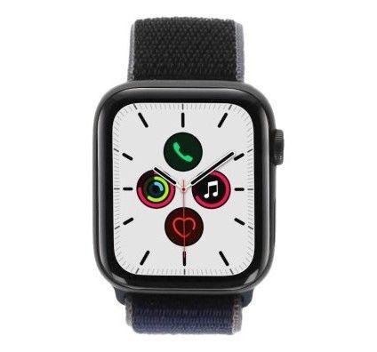Apple Watch Series 5 - boîtier en aluminium gris 44mm - boucle sport bleu de minuit (GPS)