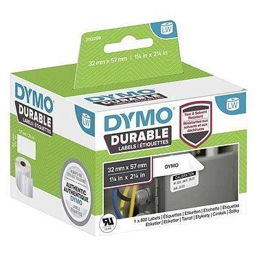 Dymo LW Rouleau d'étiquettes universelles permanentes blanches - 57 x 32 mm