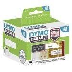Dymo LW Pack de 2 rouleaux d'étiquettes universelles permanentes blanches - 89 x 25 mm