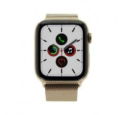 Apple Watch Series 5 - boîtier en acier inoxydable or 44mm - bracelet milanais or (GPS+Cellular)