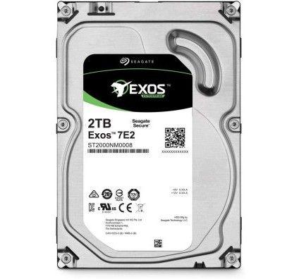 Seagate Exos 2 To, Disque dur interne d'entreprise HDD – 3,5 pouces 6 Gbit/s, 128 Mo de mémoire cach