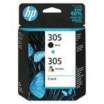 HP 305 Pack de 2 Noir/3 Couleurs (6ZD17AE)