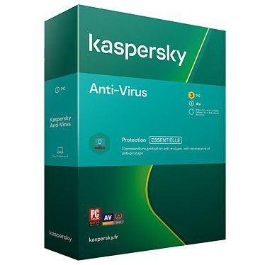 Kaspersky Anti-Virus - Licence 3 postes 1 an