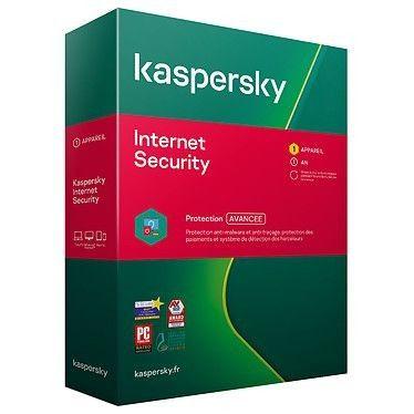 Kaspersky Internet Security - Licence 1 poste 1 an