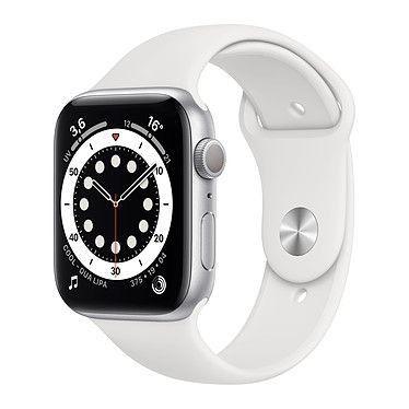 Apple Watch Series 6 GPS Aluminium Silver Bracelet Sport White 44 mm