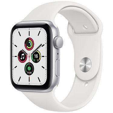 Apple Watch SE GPS Silver Aluminium Bracelet Sport White 44 mm