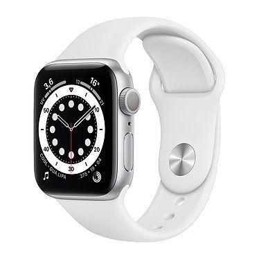Apple Watch Series 6 GPS Aluminium Silver Bracelet Sport White 40 mm