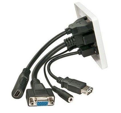 Lindy prise murale VGA/HDMI/USB/Jack 3.5 mm