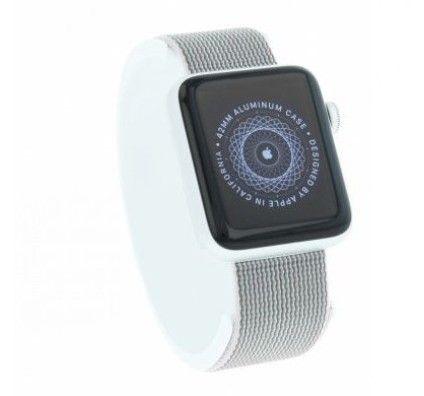 Apple Watch Series 2 - boîtier en aluminium argent 42mm - bracelet en nylon tissé