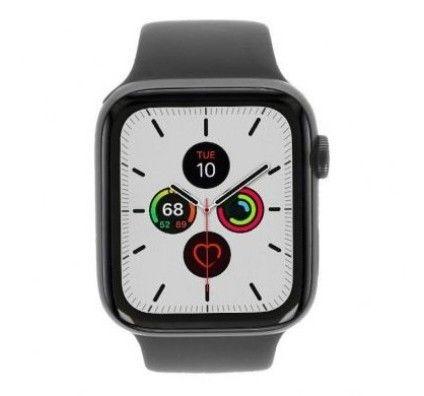 Apple Watch Series 5 - boîtier en aluminium gris 44mm - bracelet sport en noir (GPS)