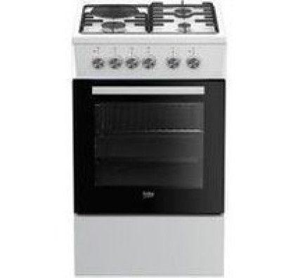 Beko Cuisinière mixte FSS53000DW 4 foyers Blanc
