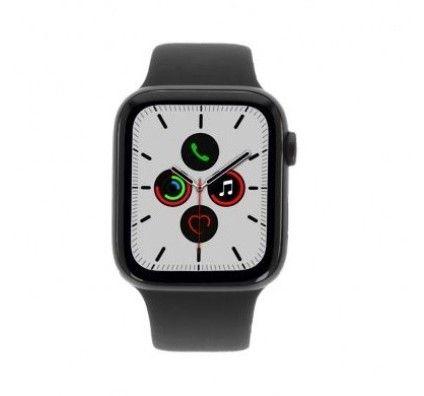 Apple Watch Series 5 - boîtier en aluminium gris 44mm - bracelet sport noir (GPS+Cellular)