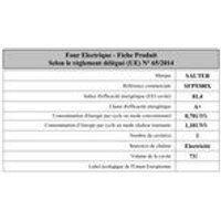 Sauter Four encastrable SFP9300X Multifonction Inox