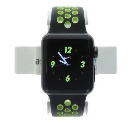 Apple Watch Series 2 Nike+ aluminium gris foncé 38mm bracelet sport noir/volt
