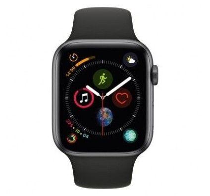 Apple Watch Series 4 GPS 44mm aluminium gris bracelet sport noir
