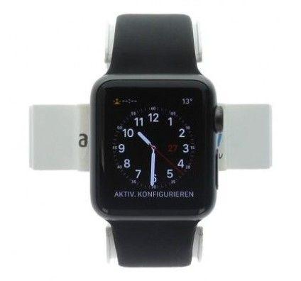 Apple Watch Series 1 38mm aluminium gris bracelet sport noir