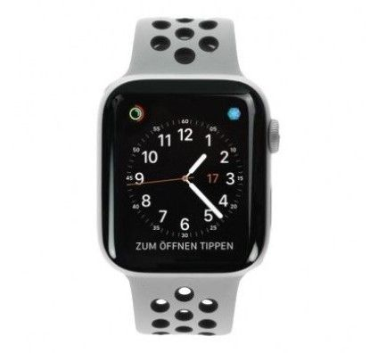 Apple Watch Series 4 Nike+ GPS 44mm aluminium argent bracelet sport noir