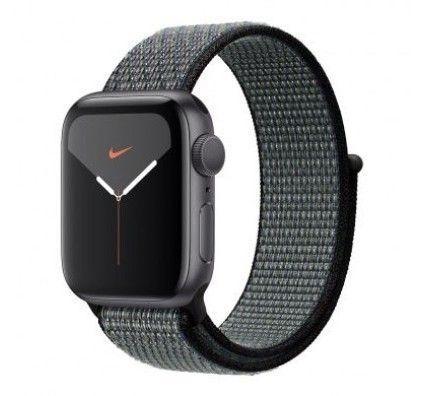 Apple Watch Series 4 Nike+ GPS 40mm aluminium gris boucle sport noir