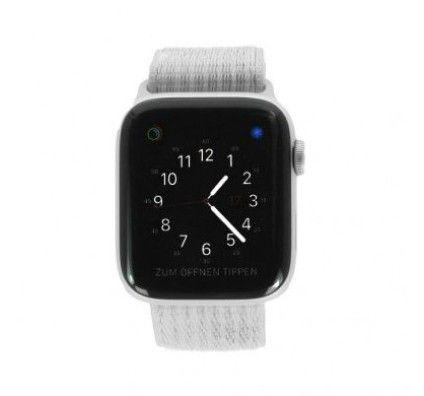 Apple Watch Series 4 Nike+ GPS 44mm aluminium argent boucle sport blanc