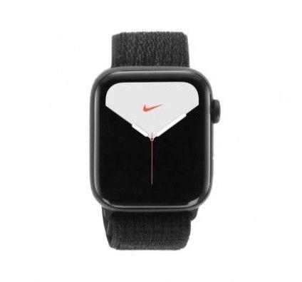Apple Watch Series 5 Nike+ GPS 44mm aluminium gris boucle sport noir